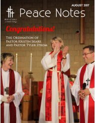 Peace Notes-August 2017 - Word of Peace Lutheran Church