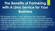 The Benefits of Partnering with A Limo Service for Your Business