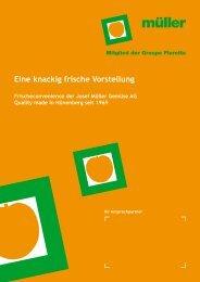Eine knackig frische Vorstellung - Josef Müller Gemüse AG