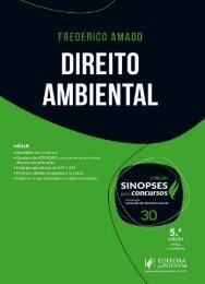 Coleção Sinopses para Concursos - V.30 - Direito Ambiental (2017) - Frederico Amado (1)