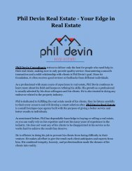 Phil Devin Real Estate - Your Edge in Real Estate