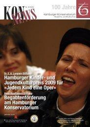 Jedem Kind eine Oper - Hamburger Konservatorium