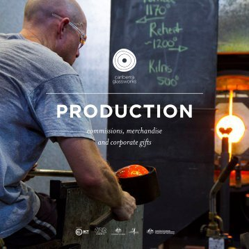 Canberra Glassworks Commissions and Production e-flyer