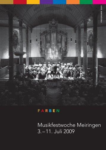 Musikfestwoche Meiringen 3. – 11. Juli 2009 - Slokar Quartet