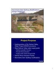 Nacimiento Dam Spillway Modifications - SAME Sacramento