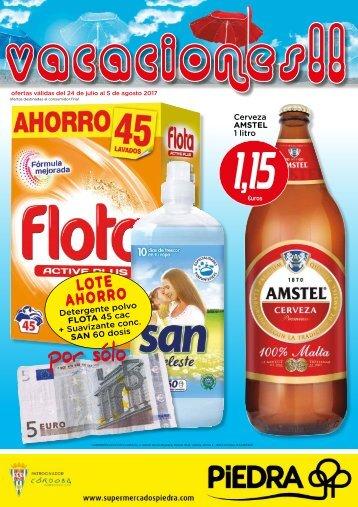 Folleto Supermercados Piedra del 24 de Julio al 5 de Agosto 2017