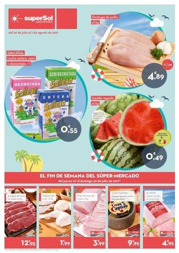 Folleto superSol supermercados del 26 de Julio al 1 de Agosto 2017
