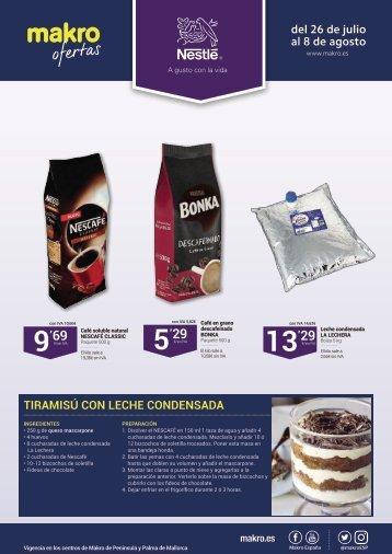 Folleto Makro ofertas especial Nestle del 26 de Julio al 8 de Agosto 2017