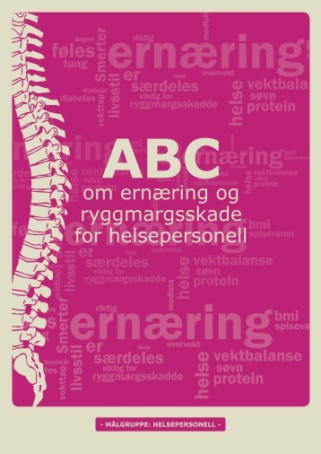 ABC om ernæring og ryggmargsskade - helsepersonell