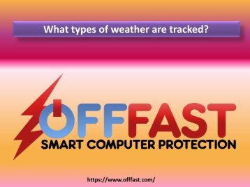 What types of weather are tracked?