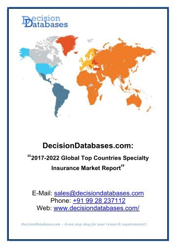 Specialty Insurance Market Report 2017:  Top Countries, Manufacturers, Types and Applications