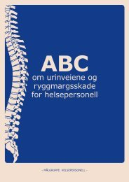 ABC om urinveiene og ryggmargsskade - helsepersonell