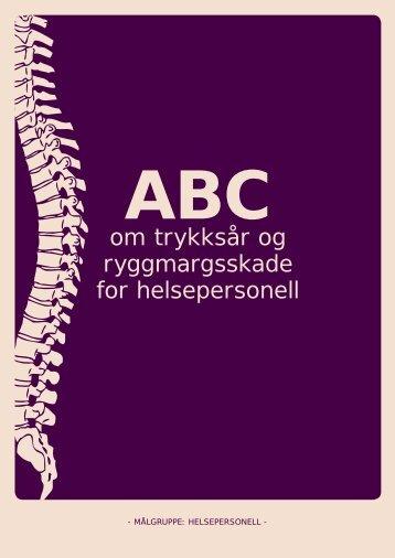 ABC om trykksår og ryggmargsskade - helsepersonell