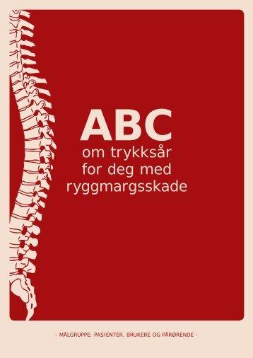 ABC om trykksår for deg med ryggmargsskade - brukere