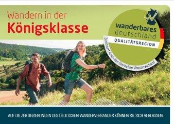 Qualitätsregionen Wanderbares Deutschland
