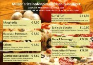 Müller`s Steinofenpizza - frisch zubereitet - Russer-gastro.de