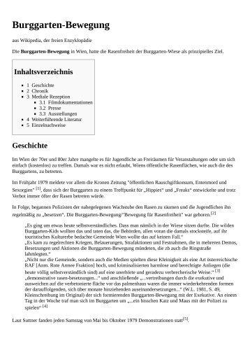 Burggarten-Bewegung