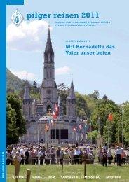 pilger reisen 2011 - Deutschen Lourdes Verein