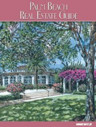 August 2017 Palm Beach Real Estate Guide