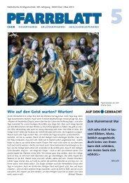 Pfarrblatt Mai 2012 - Katholische Kirchgemeinde Chur