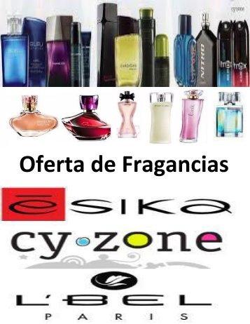 Catalogo de fragancias de Esika, Lbel y Cyzone