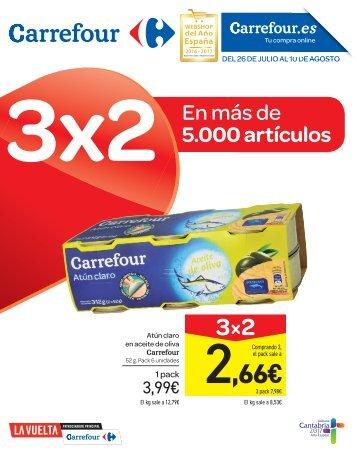 Folleto Carrefour 3x2 del 26 de Julio al 10 de Agosto 2017