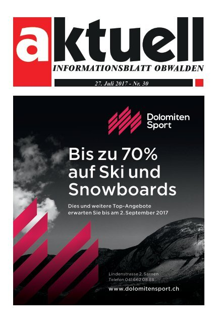 Aktuell Obwalden 30-2017