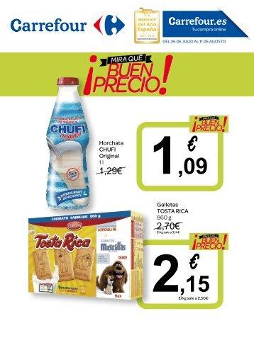 Folleto Carrefour ¡mira-que-buen-precio! del 26 de Julio al 11 de Agosto 2017