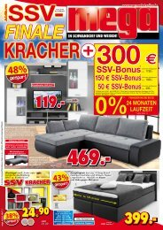 SSV: finale Kracher! Mega Möbel in Schwandorf und Weiden