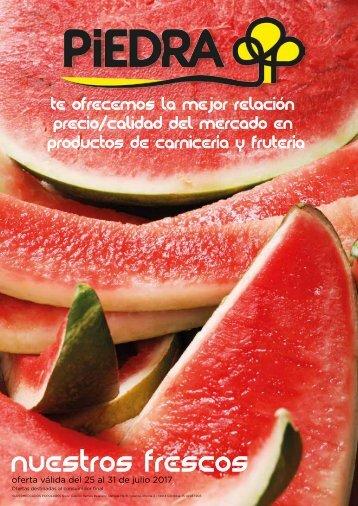 Folleto Supermercados Piedra Frescos hasta 31 de Julio 2017