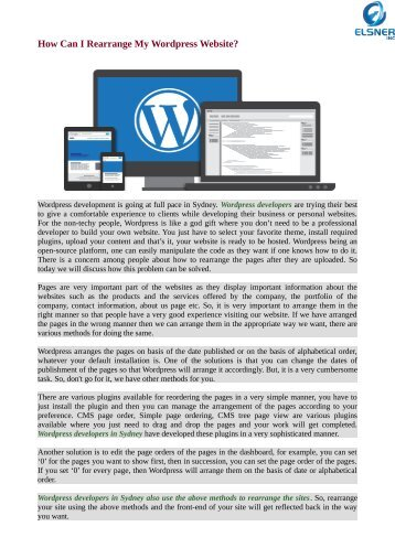Rearrange Your Wordpress Website in Easy Way