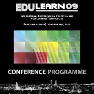 EDULEARN09 Conference Programme - IATED