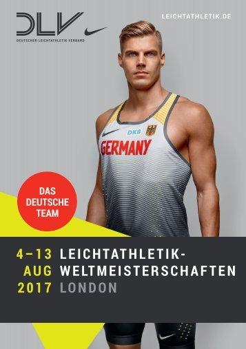 Das deutsche Team für die Leichtathletik-WM in London
