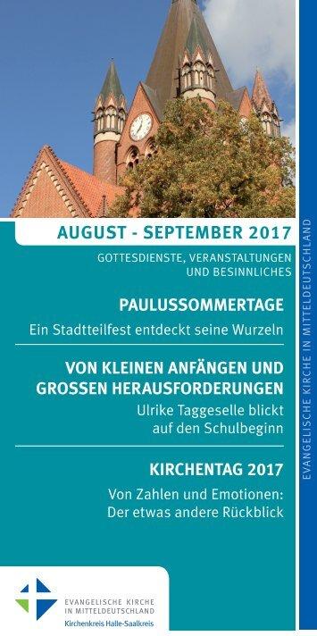 Programm des Evang. Kirchenkreises Halle-Saalkreis für August und September 2017