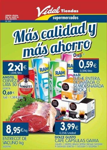 Folleto Vidal Tiendas del 26 de Julio al 8 de Agosto 2017
