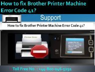 8000465291 How to fix Brother Printer Machine Error Code 41?
