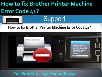 8000465291 How to fix Brother Printer Machine Error Code 41?