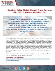Cerebral Palsy Global Clinical Trials Review, H1, 2017: Radiant Insights