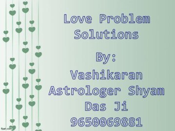 Solve Love Marriage Problems by Love Specialist 9650069881