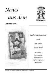Dezember 2002 - Gymnasium Weingarten