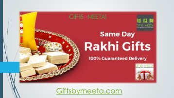 Same Day Rakhi Gifts Delivery From Giftsbymeeta