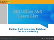 Maximize sales and ROI with massive MS Office 365 users contact database