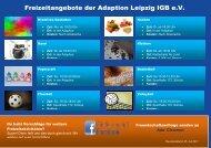 Freizeitangebote der Adaption Leipzig 2017 neu