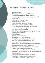 Nursing Capstone Project Topics