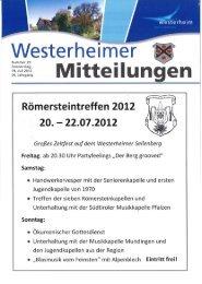 KW 29 vom 19. Juli 2012 - in Westerheim