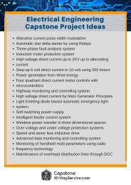 Electrical Engineering Capstone Project Ideas