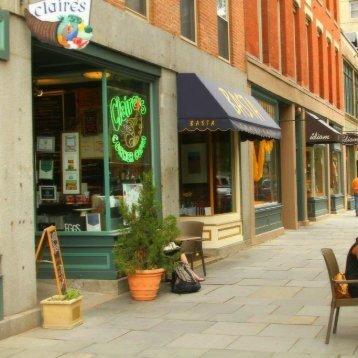 Claires Corner Copia and Basta Trattoria on Chapel St near #1 New Haven cosmetic dentist Shoreline Dental Care