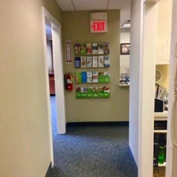 Hallway at the office of West Haven's top dentist Shoreline Dental Care