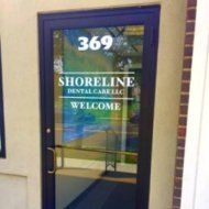 Signage on front door at Shoreline Dental Care West Haven, CT 06516