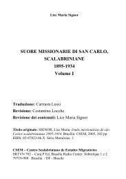 SUORE MISSIONARIE DI SAN CARLO, SCALABRINIANE 1895 ...
